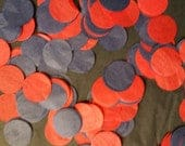ONLY 1.00, 200 Pieces, 1 Inch Tissue Paper Circle Confetti, New England Patriots, Red, Navy Blue, Balloon Confetti, Table Sprinkle, Wedding