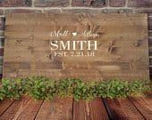Alternative Wedding Guest Book Wedding Decor Last Name Sign Rustic Wood Sign Wood Sign Personalized Sign Signing Board