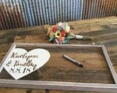 Rustic Wedding Guest Book Wedding Decor Wood Guestbook Alternative Guest Book Wedding Gift Sign Gift for couple