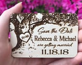 Wedding Save The Date Magnet, Wood Save The Date, Tree Save The Date Magnet, Personalized Save The Date Magnet, Wedding Invitation