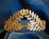 Olive Branch Tiara, Wedding, Greece, Gold, Headband, Leaves, Crown, Hairpiece, Elegant, Greek, Wreath, Laurel, Nature, Headpiece, Halloween