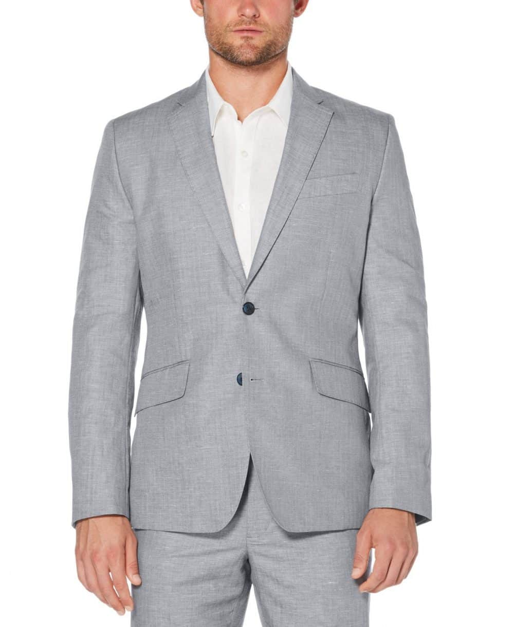 Cubavera Men's Cotton Linen Herringbone Blazer (Dress Blues) - Size S