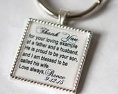 custom keychain, father of the groom keychain,Father of groom gift, father in law wedding gift for father in law, personalized keychain