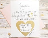 Bridesmaid Proposal Card.
