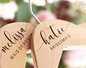 Bridesmaid Hangers Wedding Hangers Bridesmaid Gift Engraved Hangers