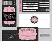 Big Easy Wedding Boarding Pass, Airline Ticket, Wedding Plane Ticket, Travel Inspired Wedding Invitation, New Orleans, Louisiana
