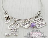 BRIDESMAID Gift Personalized Wedding Bracelet, Bridesmaid JewelryExpandable Bangle Gift from Bride, Wedding Bridesmaids Gifts Keepsake