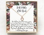Mother of the Bride Gift Necklace/Mother of the Bride Gift / Wedding Gift / Bridal Party / Rehearsal Dinner /Parent of Bride/Mother of Bride