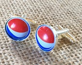 Pepsi Bottle Cap Cufflinks Unique Gift for Groomsman Birthday Anniversary Boyfriend Wedding Father Holiday Christmas Cuff Links