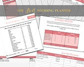 The BEST Wedding Planner to keep you organized and on budget! Wedding planner book, guest list tracker, and so much more!