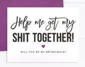 Will You Be My Bridesmaid Card, Bridesmaid Proposal Card, Funny Bridesmaid Card, Funny Bridesmaid Proposal (FPS0025)