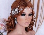 Silver or Rose Gold Brides Headpiece Hair Vine Wreath Head Piece Party Accessory Weddings Gift Wedding Bridal Accessories Floral Jewelry