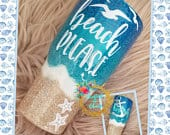 Glitter Beach Tumbler Personalized Beach Please Stainless Steel Ozark/RTIC/Yeti cup