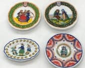 Quimper Mini Plate Platter china style from Brittany France Traditional Pottery Wedding Plates French Feve Feves Dollhouse Miniatures XX20
