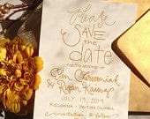Gold Save the Date . Gold Save the Date Announcement . Classic Gold SavetheDate . Gold Wedding Invitation Suite . Elegant Save the Date