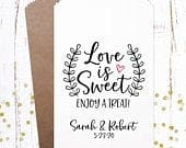 Love is Sweet, Wedding Favors, Wedding Candy Bags, Favor Bags, Treat Bags, Popcorn Bags Wedding, Cookie Bags Wedding, Rustic Wedding, 0439