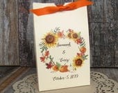 Fall Wedding Favors, Fall Wedding, Fall Wedding Guest Favors, Fall Favors, Sunflower Wedding, Fall Favor Boxes, Fall Rehearsal Dinner