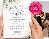 Save The Date Calendar, Save The Date Template With Photo, Save The Date Cards, Save The Dates, Save The Date Postcard, Digital Download