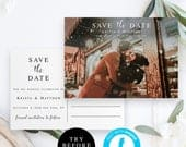 Save the date photo postcard Photo save the date template Printable Wedding Date Announcement Wedding save the date photo postcard DIY vm31