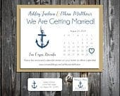 75 Wedding Save the Date Cards Nautical Beach Anchor Printed Personalized Save the Dates Invitations