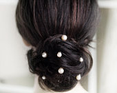 A Group(7 pieces) of Swarovski Pearl Halo Hairpiece Hairpin Pins Wedding Bridal