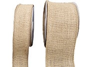 1.5/3 Wide Wired Burlap Ribbon Rustic DIY Trim Party Decor Natural Gift Wrap Gift Bow Brown Mesh Jute Trim Baby Shower Wedding 10Yard Roll