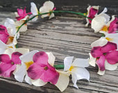 Flower Crown Custom Color Wedding Bridal Crown FREE SHIPPING Ivory Wine Bohemian Headband Adult or Kid