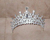 Vintage Rhinestone Bridal Tiara Crown Headpiece