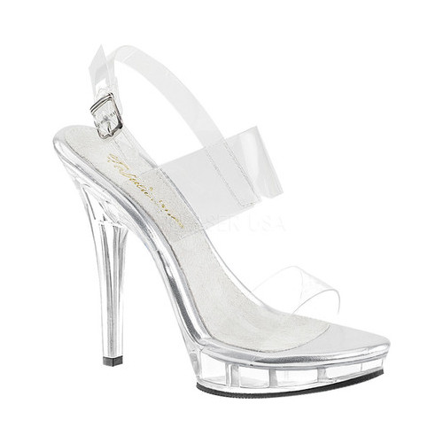 Women's Fabulicious Lip 114 Sandal, Size: 7 M, Clear PVC/Clear