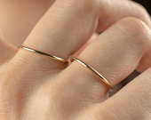 Wedding Band 1.2MM 14k SOLID Gold Ring Gold Wedding Rings also used as Stacking Rings Thin Wedding Band