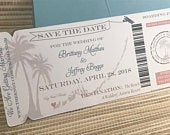 Key west Boarding Pass Save the Date. Boarding Pass Invitation. Destination Wedding Invitation. Key West Florida Save The Date