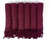 Pashmina Shawl in WINE Bridesmaid Gift, Wedding Favor, Bridal party gift Party favor