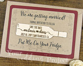 Wine Bottle Save the Date Magnet, Vineyard Save the Date, Wood Save the Dates, Wedding Invitation, Wedding Favors, Rustic Save the Date