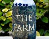 Personalized True Life Can Cooler, Collapsible Camo Can Hugger, Bottle Can Cooler, Wedding Favors