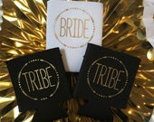 Bride Tribe Bachelorette Party Favors Bachelorette Can Cooler Party Decorations Black and Gold Girls Night Girls Trip