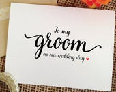 Wedding Card for Groom Gift from bride husband wedding gift Groom card to my groom on our Wedding Day Card to groom gifts (LovelyCard) WAC7