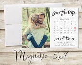 5x7 inch Calendar Save The Date Magnet, Magnet Save the Date, Photograph Save the Date, Save the Date with Photo, Heart Save the Date Magnet