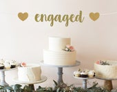 Engagement Party Decorations Engaged Banner Engagement Party Ideas Engagement Party Decor Engagement Party Sign Engagement Banner
