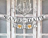 Save the date Announcement photos, Custom date signs, Engagement party Decorations