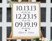First Day, Yes Day, Best Day Custom Print. Our Love Story. Engagement Party Decorations. Wedding Decorations. Wedding Sign diy word