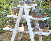 A Frame Rustic Wood Cupcake Party Favor Ladder Stand Wedding Decor
