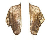 Sequin Bolero Jacket, Stunning Art Deco, Made In France, Rare, Collectible, Vintage 1930s