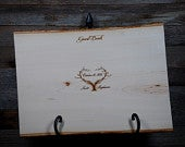 Rustic Engraved Guest Book Tree Slice/Plank, Rustic Wedding Wood Guest Book, Personalized Guest Book, Custom Engraved Plaque, Rustic Wedding