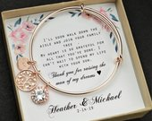 Mother of the Groom , mother of the groom gift ,mother in law ,mother of the bride ,mother of the bride gift , bracelet ,bridesmaid gifts