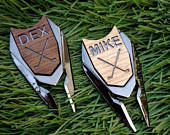 Personalized Golf Ball Marker Divot Tool Groomsmen Gift Golf Gifts for Men Him Best Man Husband Dad Father of the Bride Groom Custom Engrave