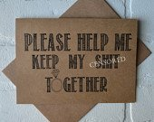 PLEASE HELP ME keep my sht together will you be my bridesmaid cards funny bridesmaid cards kraft funny sarcastic bridal proposal card kraft
