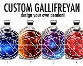 Custom Gallifreyan Personalized Name / Words Necklace Dr Who Pendant Whovian Gift