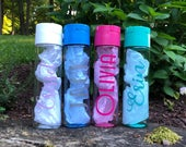 Personalized Name Water Bottle, Custom Bottle, Customized Water Bottle, Bridesmaid Gift, BPA, Kid Gift, Gift For Her, Personalized Tumbler