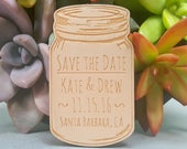 Save the Date Magnets Mason Jar Custom Engraved Wood Magnets Wedding Save the Date