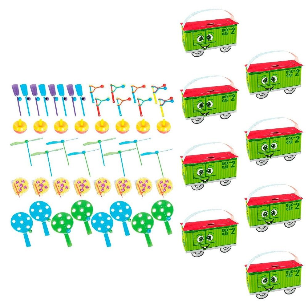8ct Two-Two Train 2nd Birthday Filled Favor Box Kit
